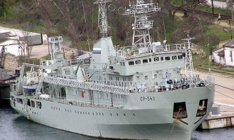 Russian military supply ship detected near Latvian waters