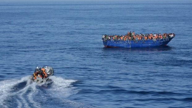 This boat was rescued off the Spanish coast in November having made the crossing from Libya. Photo: Spanish Ministry of Defence